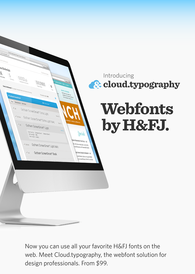 Introducing Cloud.typography Webfonts by H&FJ.
